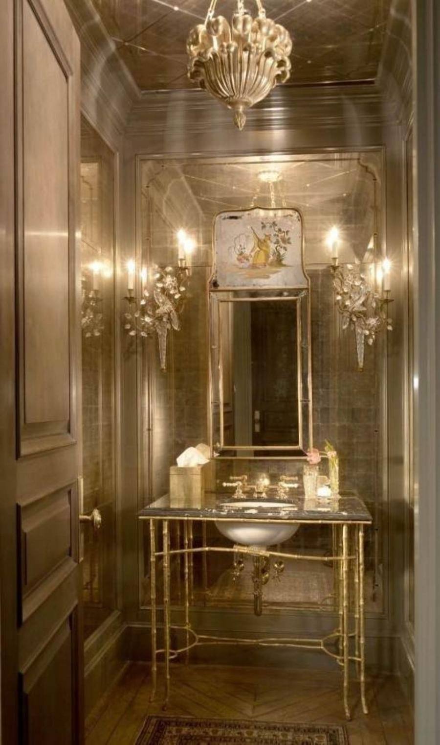 Photos of beautiful powder rooms for Pictures of beautiful bathroom designs