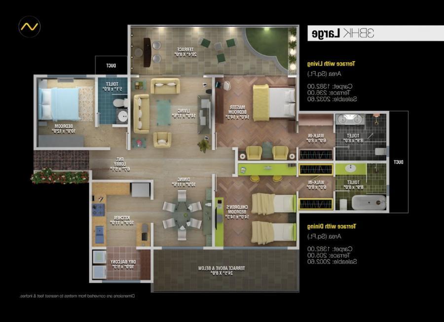3 Bhk House Plans Photos