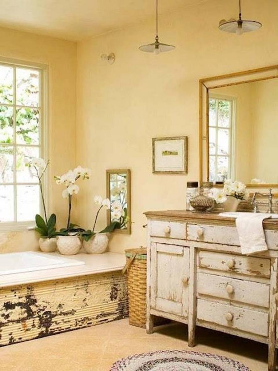 Rustic bathroom  Etsy
