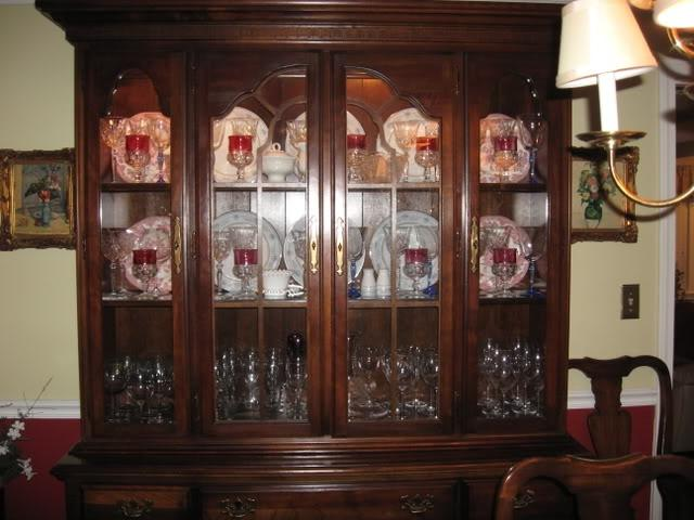 Photos Decorated China Cabinet