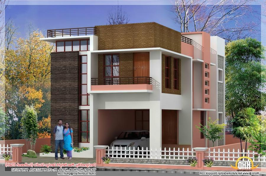 Modern House Front Side Design In India In Elevation Design 3D .