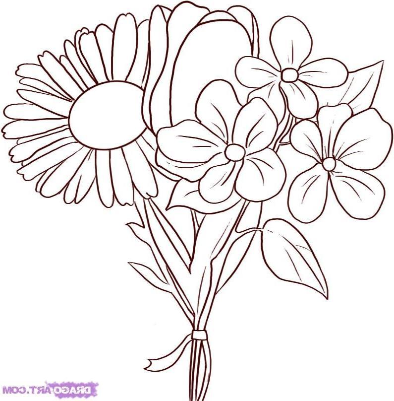 Drawing flowers photos how to draw spring flowers step 6 mightylinksfo