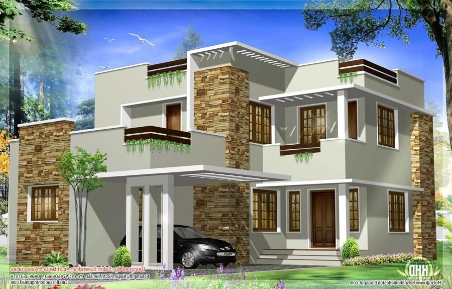 Modern House Design Sri Lanka Square Feet Modern House Elevation...