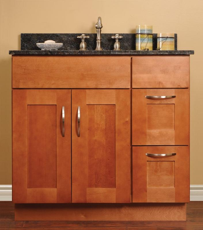 stock cabinets - walnut shaker vanities discount assembled...