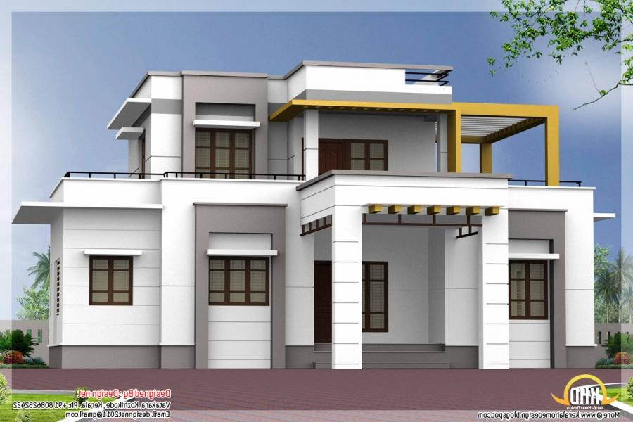 Great small house designs u2013 contemporary flat roof house...