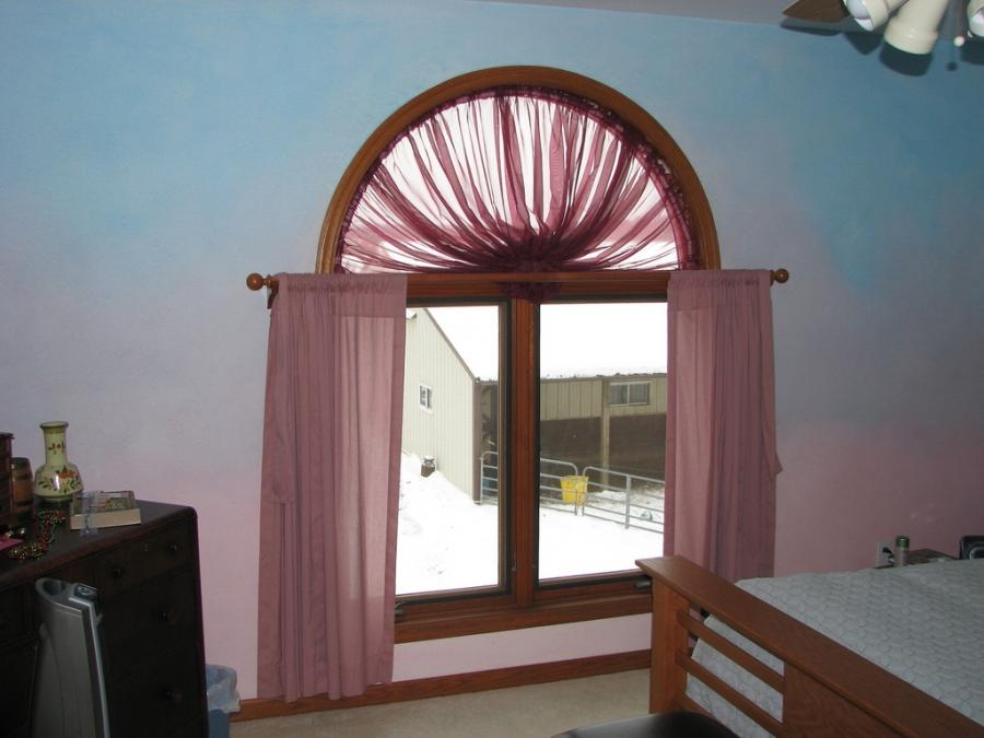 Photos of curtains on arched windows for Arch window replacement