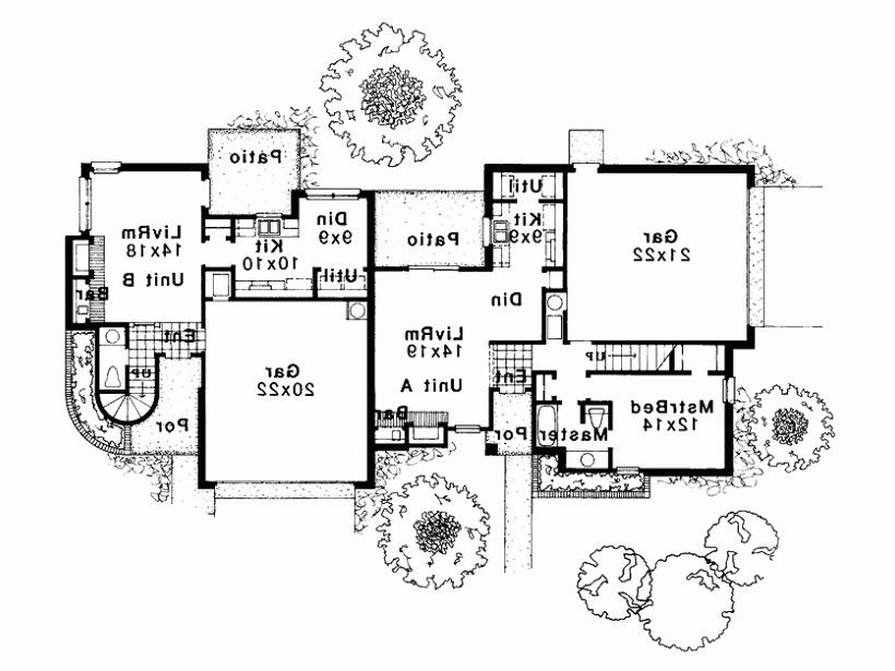 Modern duplex house plans with photos for Contemporary duplex plans