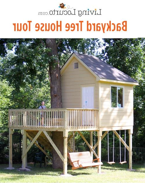 Backyard Living Source : Backyard Tree House Tour  Living Locurto  Party Ideas  source