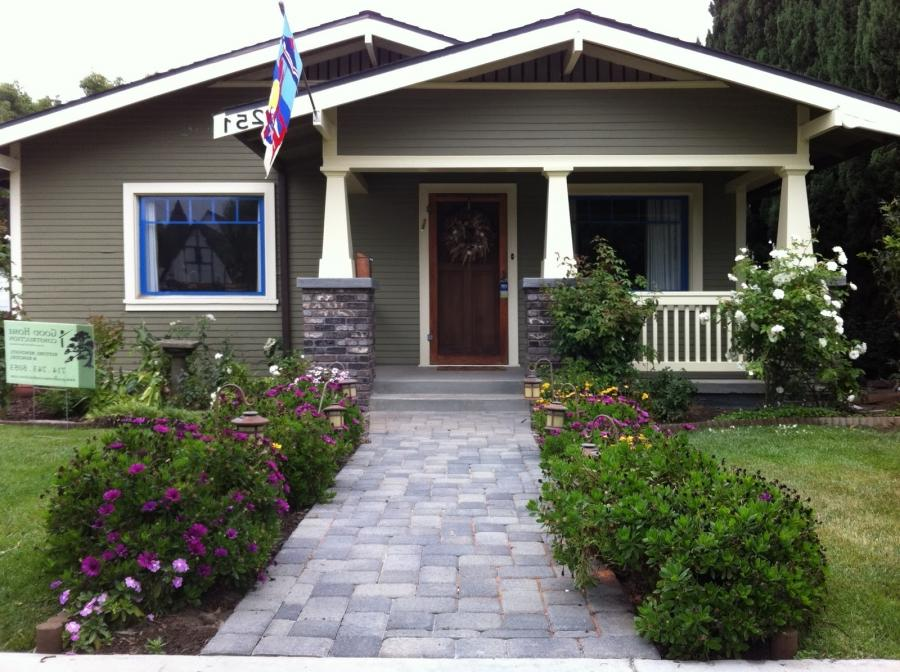 Front Picture AFTER with Newly Renovated Porch, Walkway and Front...