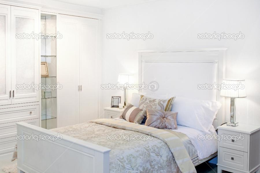 Impressive Deposit White Bedroom Design With Cool Scheme