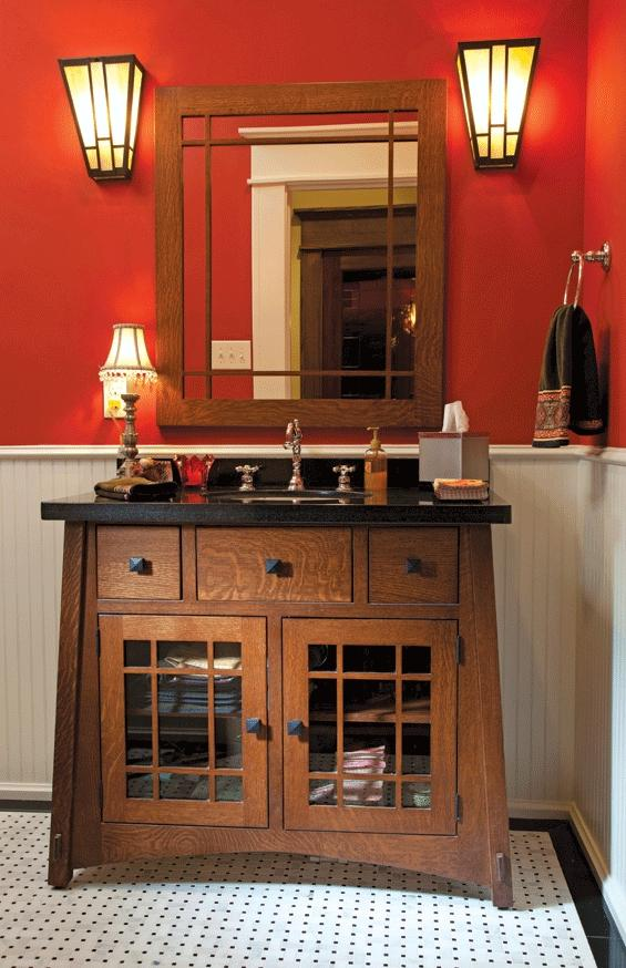 Photos arts crafts bathrooms for Arts and crafts home magazine