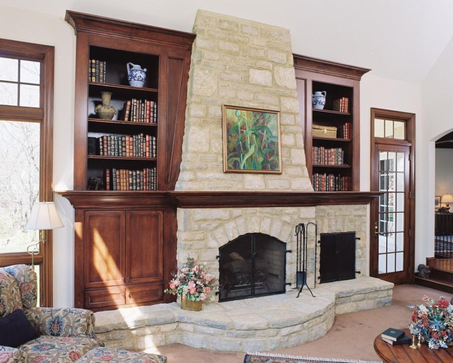 Fireplace Bookcase Photos