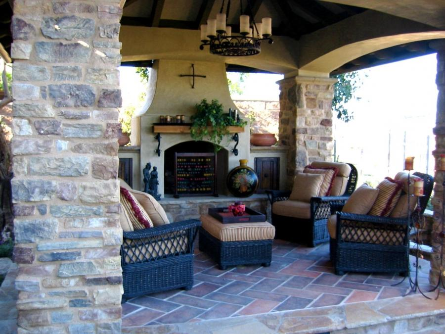 Outdoor rooms photos with fireplaces for Outdoor rooms with fireplaces