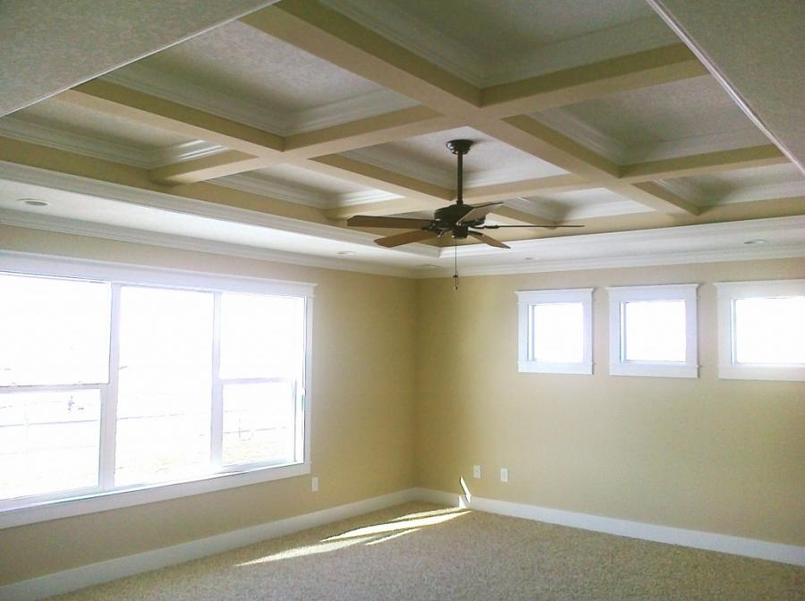 ... coffered ceiling construction framing ...