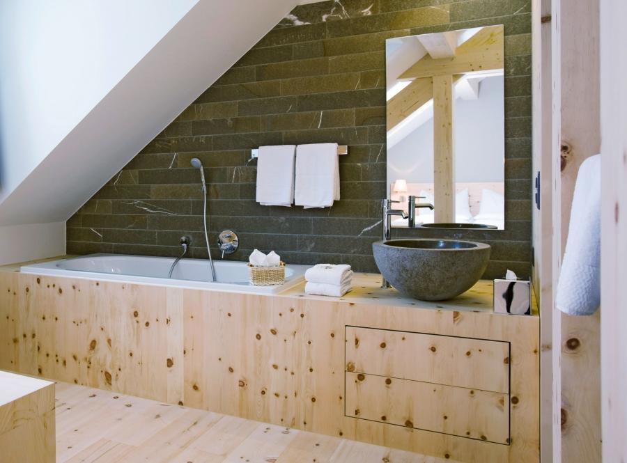 Architecture, Attic Bathroom Interior Decorating Ideas With...