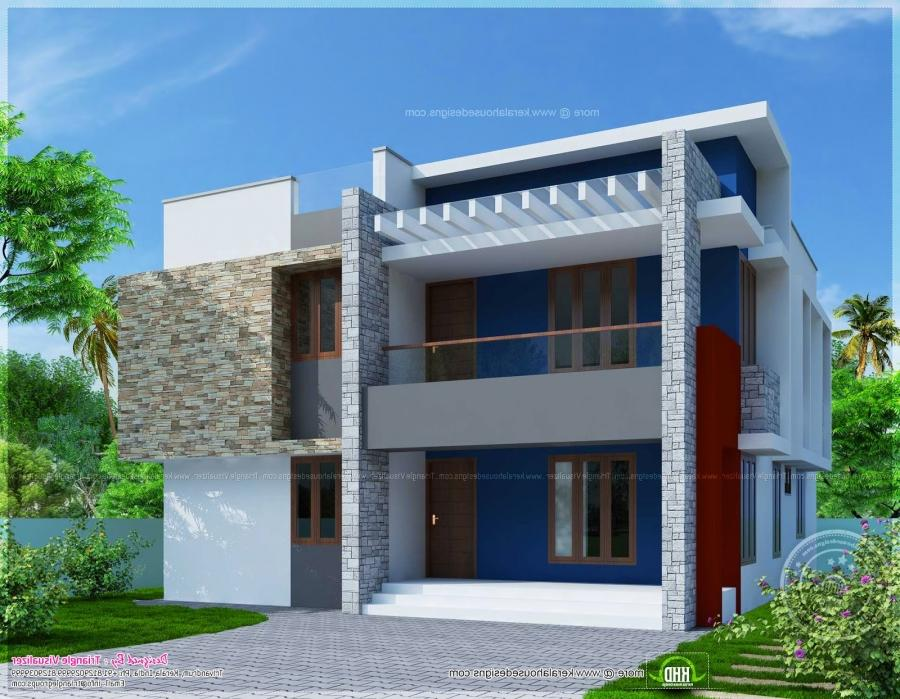 Simple house elevations the image kid for Minimalist house elevations