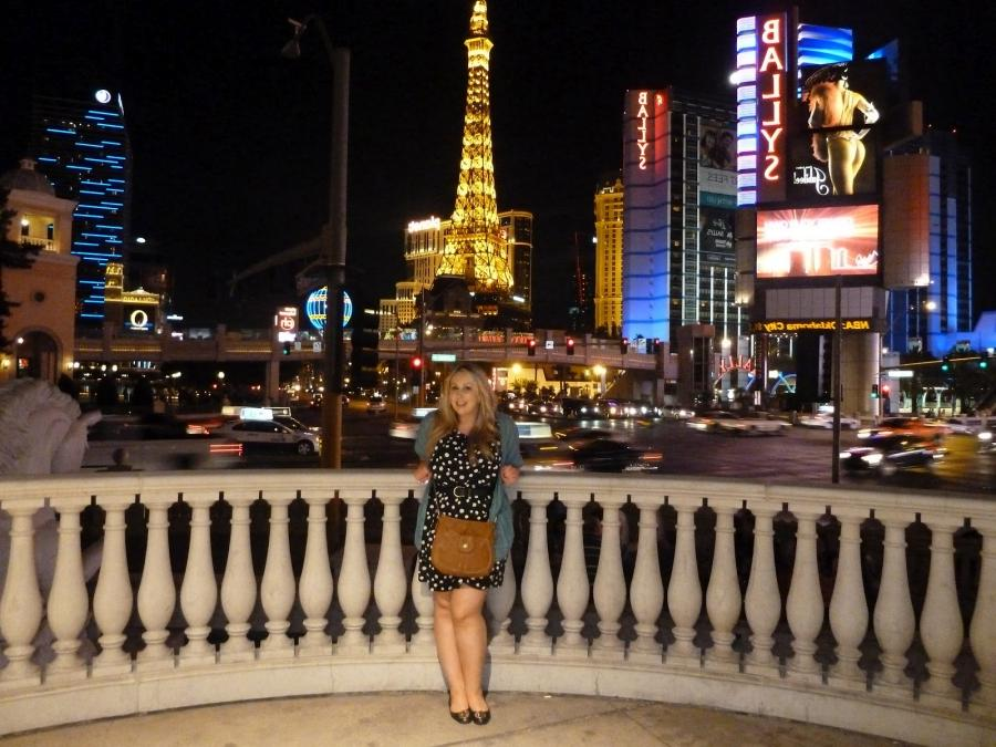 Hereu a photo of me on the lower balcony of Caesaru Palace - we...