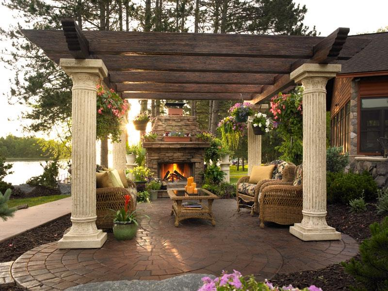 Outdoor Living Room Design Ideas With Enchanting Outdoor Living