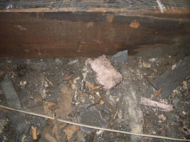 Asbestos Roof Insulation Photos