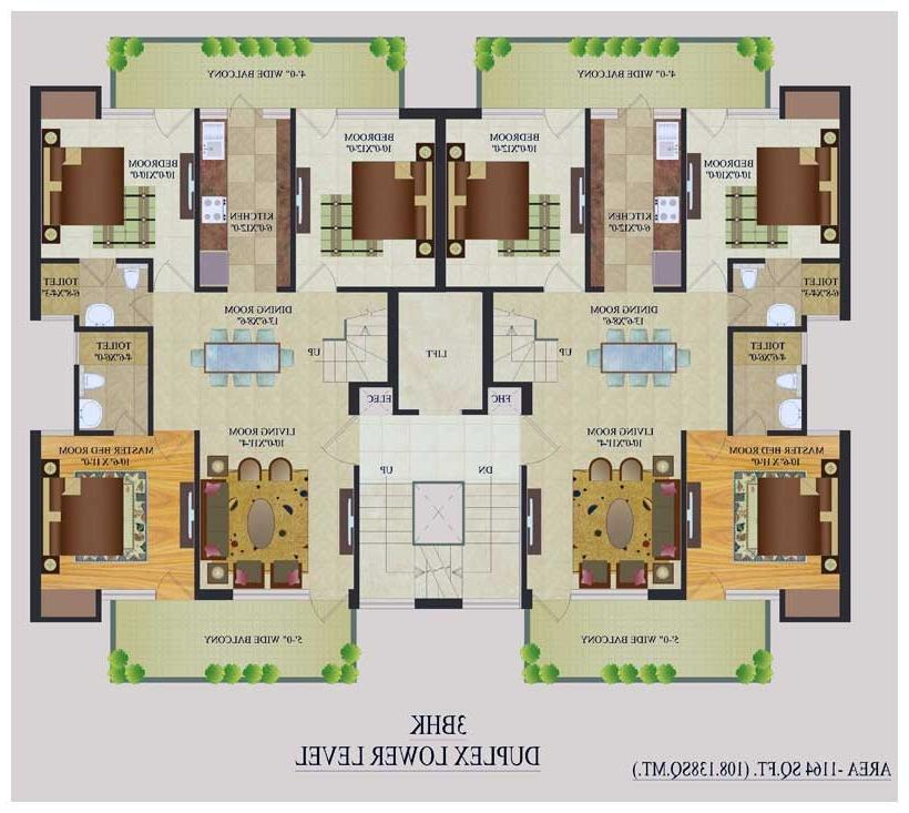 Indian duplex house plans with photos for Duplex apartment plans in india