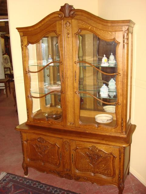 Antique Carved French China Cabinet Display Cabinet Curio