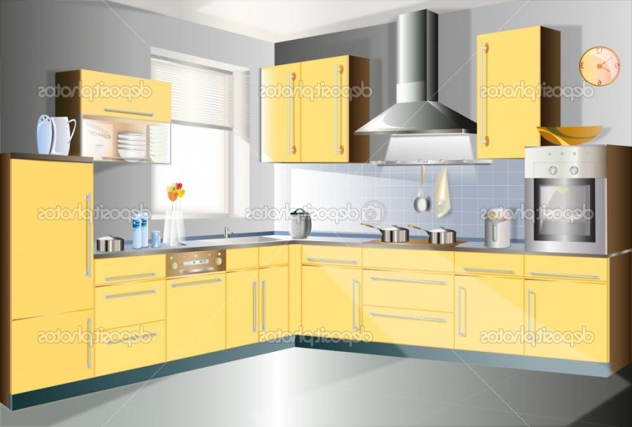 Luxury Idea For Natural Antique Deposit Yellow Kitchen Room Decor...