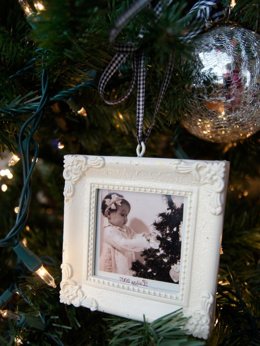 I loved the frame ornaments every year in the Pottery Barn...