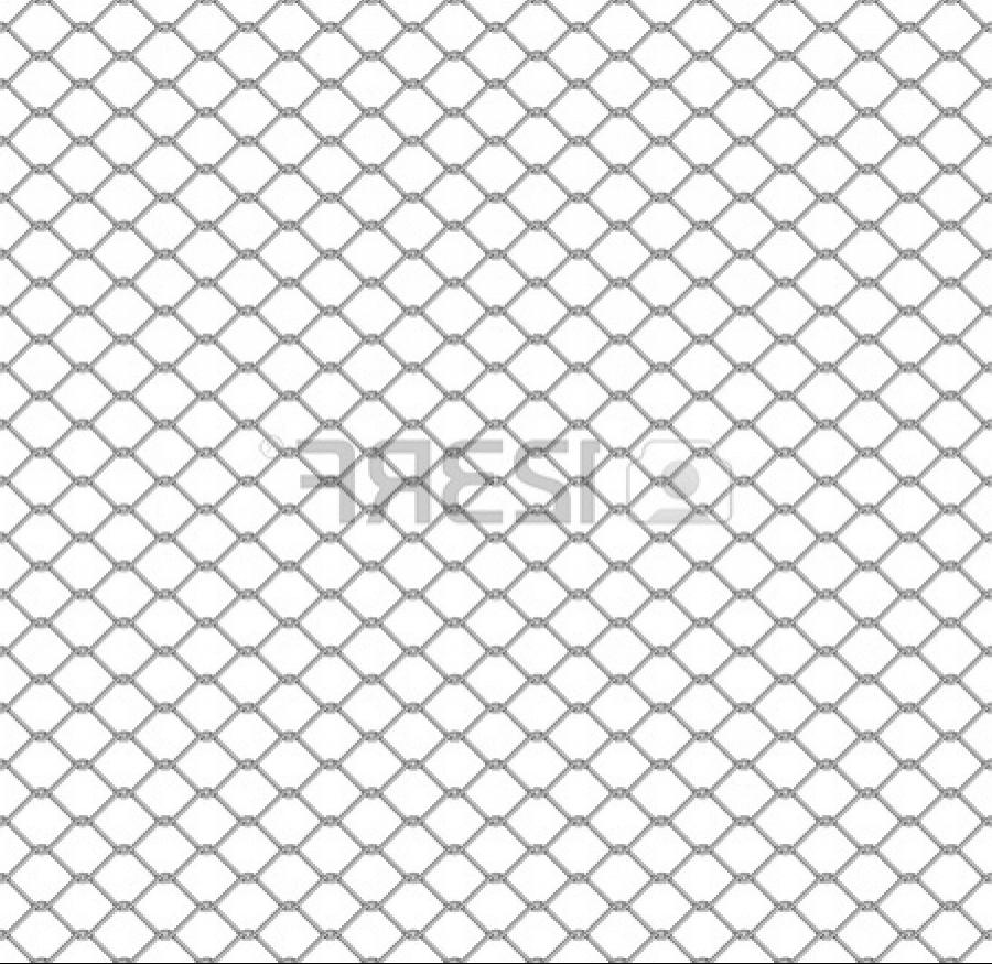 Stock Photo - metal chain link fence seamless on white