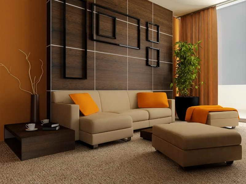 ... Calming Modern Interiors with orange theme ...