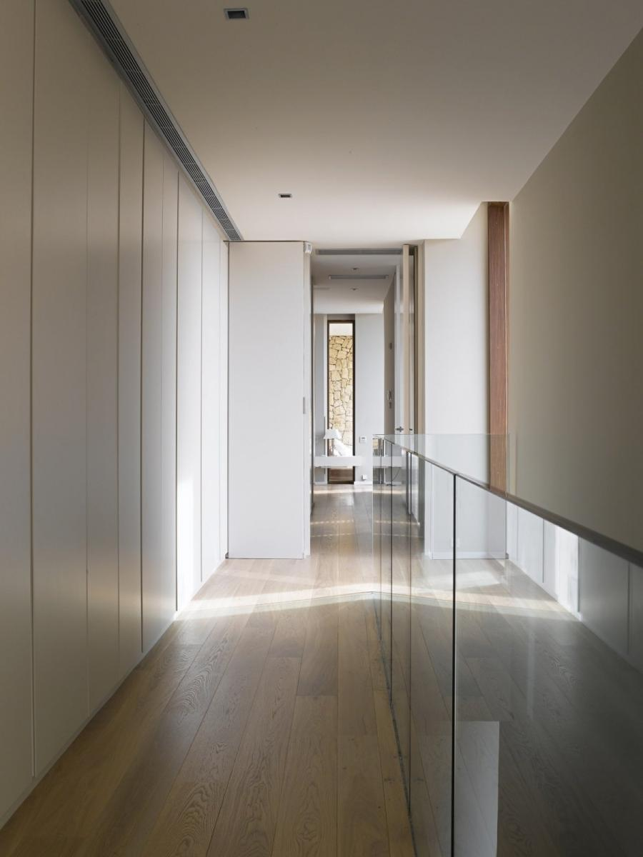 Modern Home in Monasterios Spain Hallway Layout