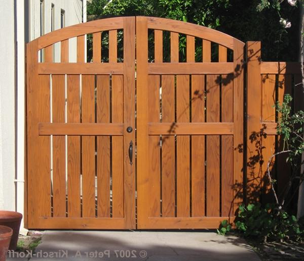 Spanish Bungalow Arched Driveway Gates - Los Angeles, ...