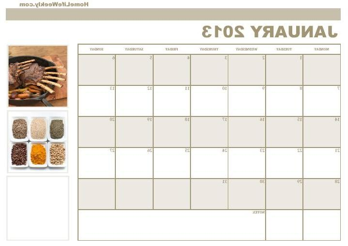 Blank Kitchen Calendar : Photo kitchen calendar