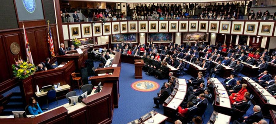 Florida Senate floor, 2010 legislative session | Credit: Colin...
