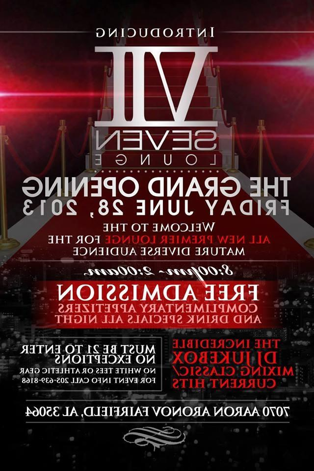 Official Grand Opening of Seven (VII) Lounge w/ DJ Jukebox;...