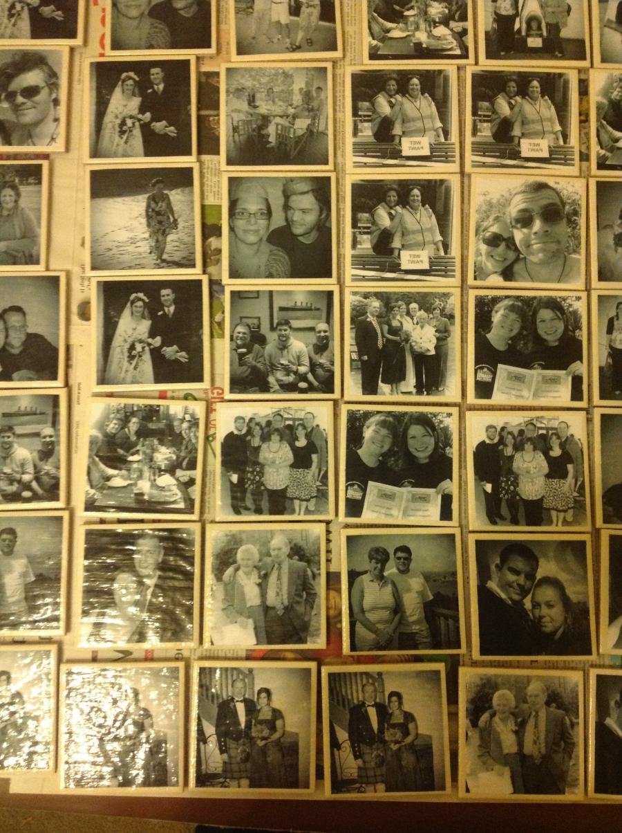 Decoupage Photo On Tile