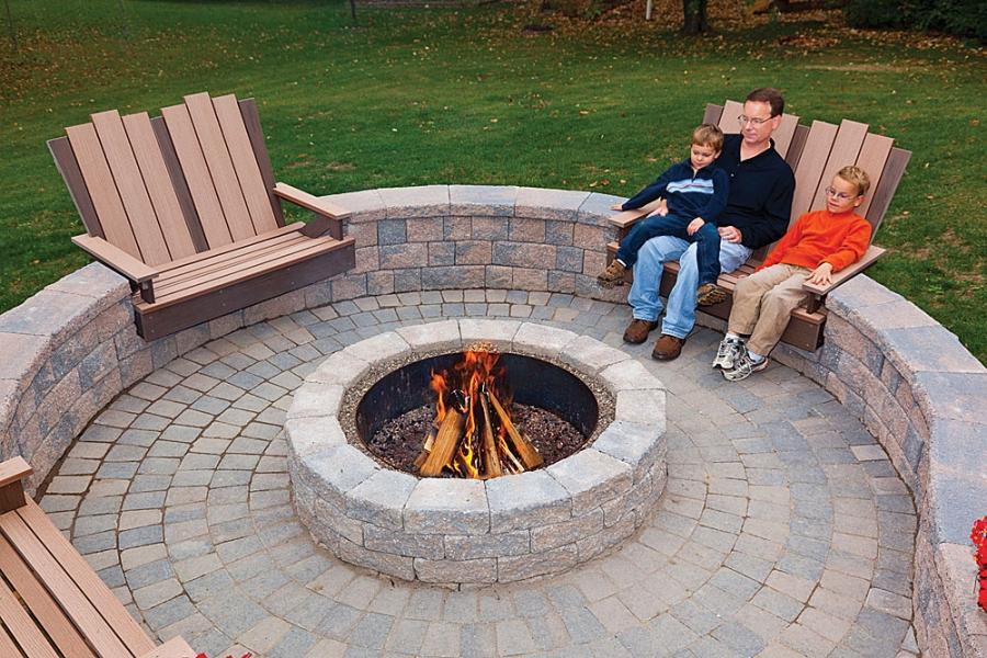 EP Henry - 6u0026quot; Rustic Double Face Wall and Fire Pit;...