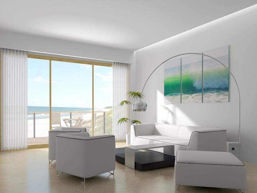 Delightful Design White And Bright Living Room Interior