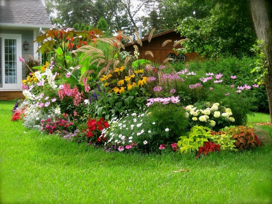 Планировка цветника своими руками перед домом
