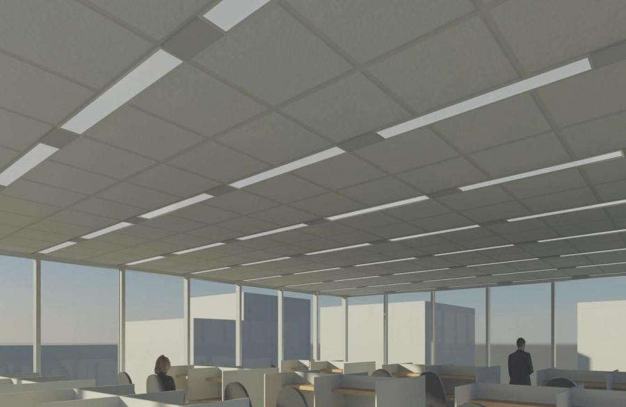 Suspended ceiling with hidden structures LOGIX™ USG ...