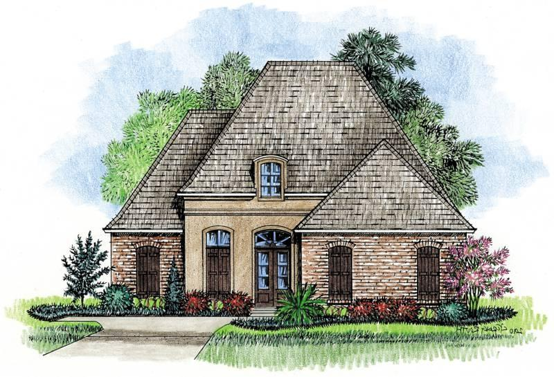 Country french house plans with photos for Louisiana french country house plans