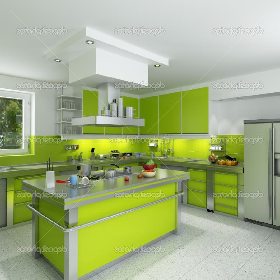 Yellow Green Kitchen : Kitchen Green Interior Design Designs. Yellow Kitchen Idea...