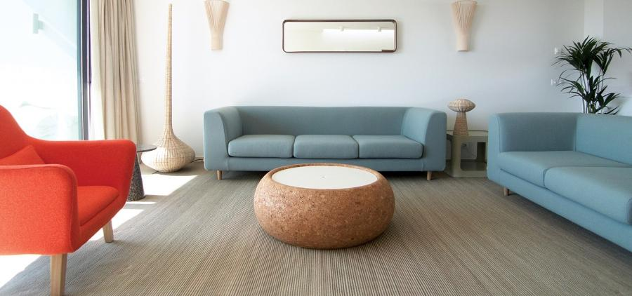 Modern furniture tends to be raised off the floor (no traditional...