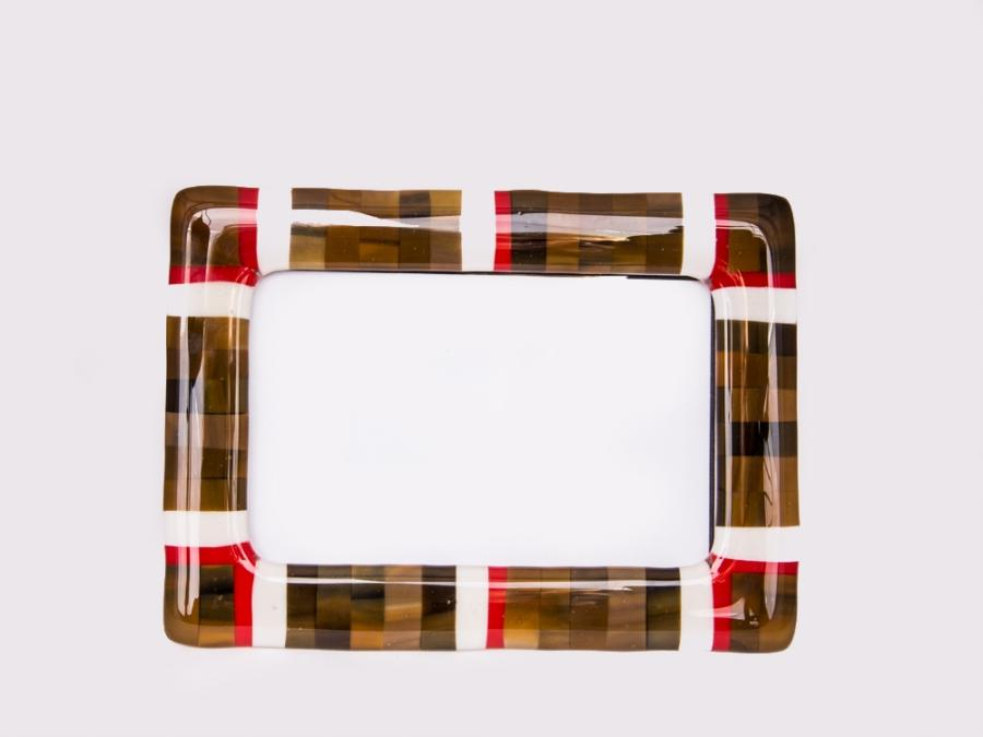 fused glass photo frame