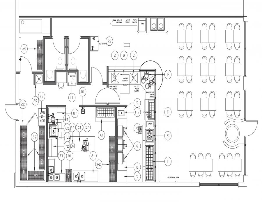 Blueprints of Restaurant Kitchen Designs | Kitchen layout ...