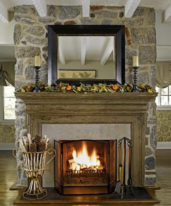 Mantel decoration photos