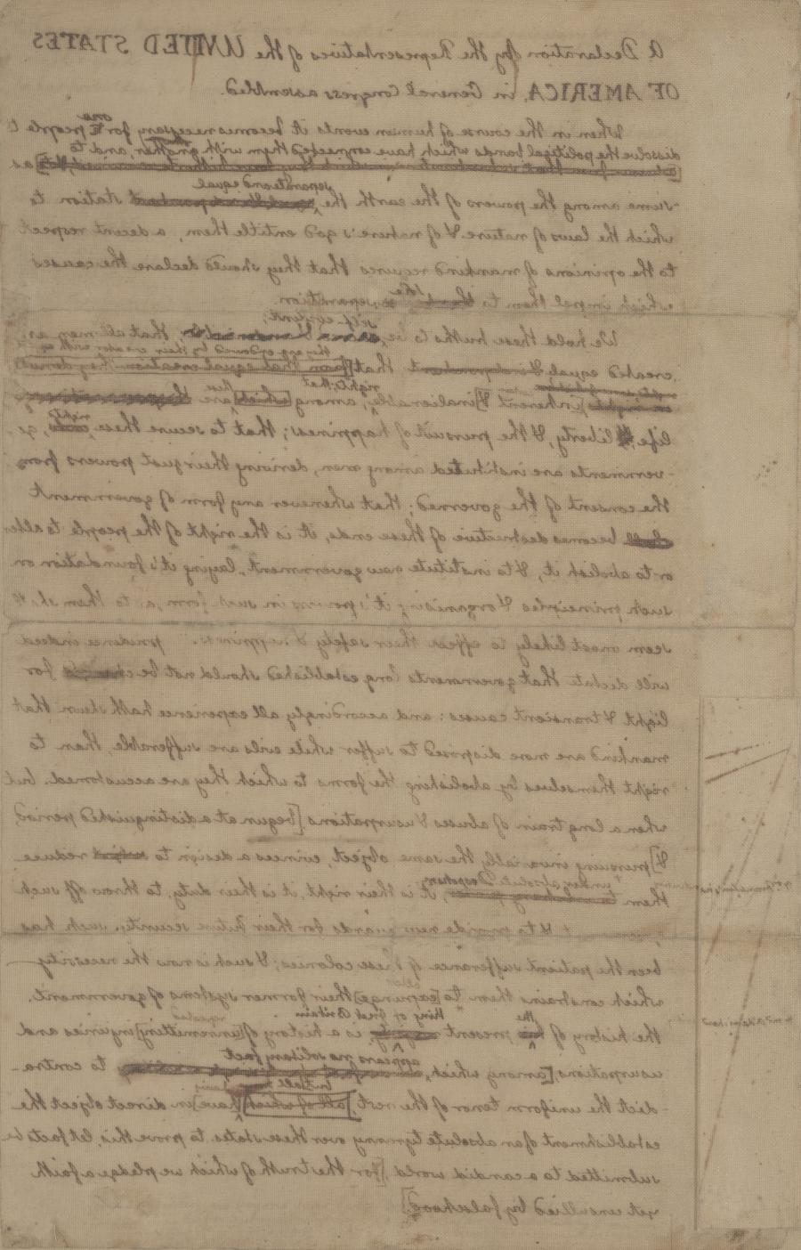A history of the declaration of independence of the united states