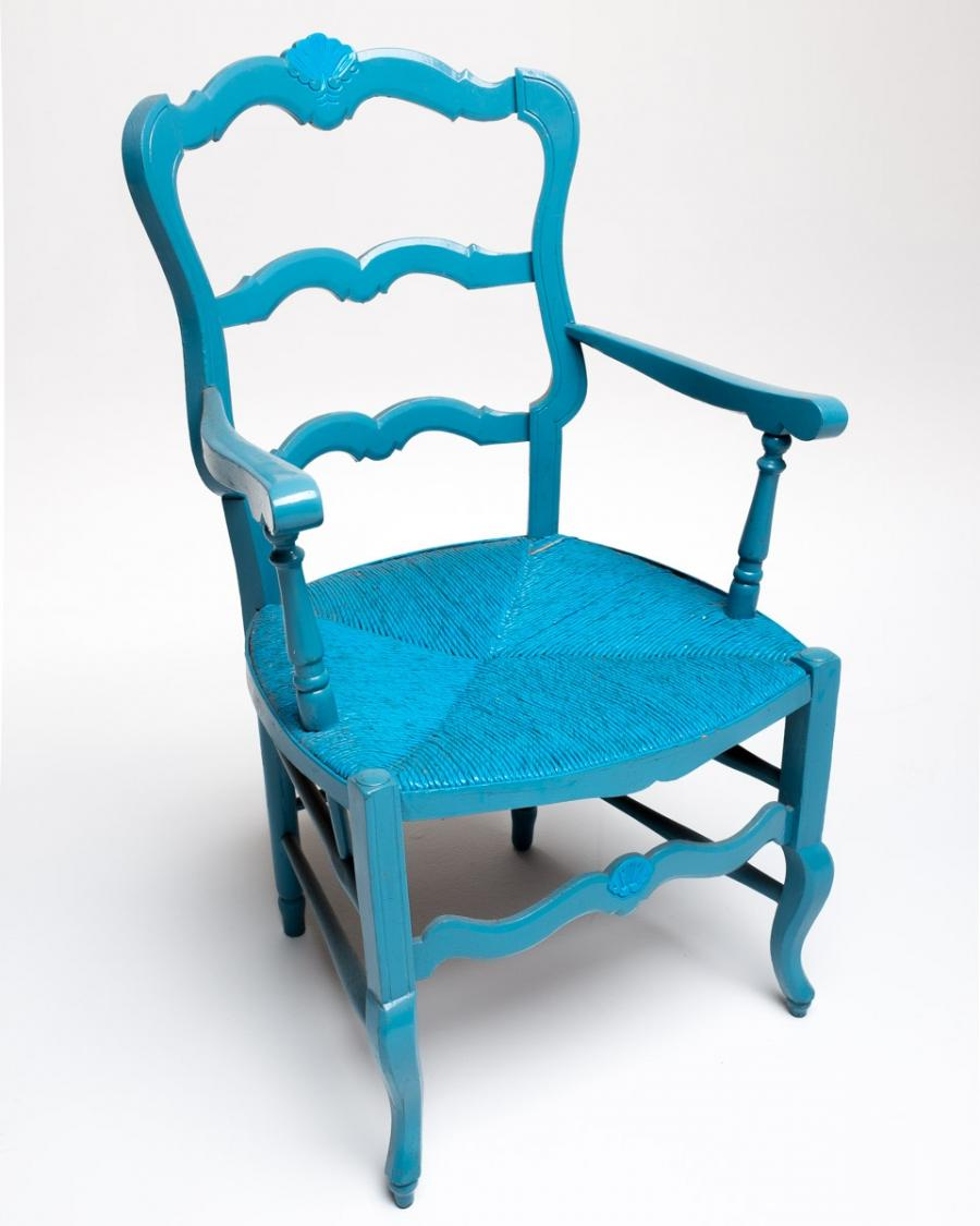 Blue chair photo