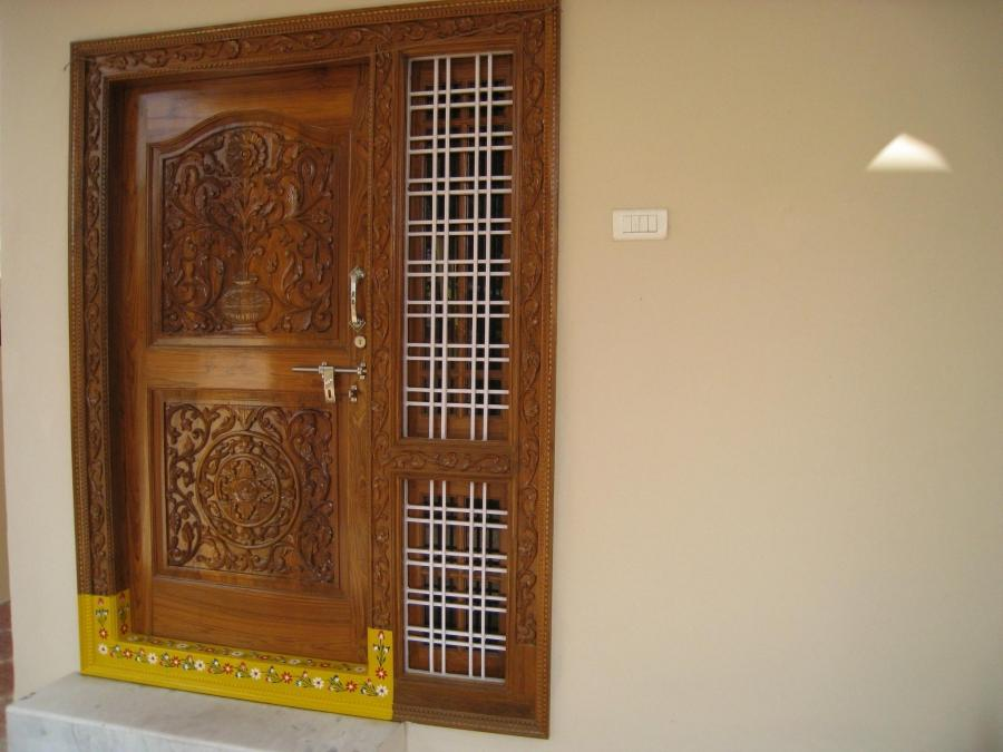 South indian main door designs photos for Main door design latest