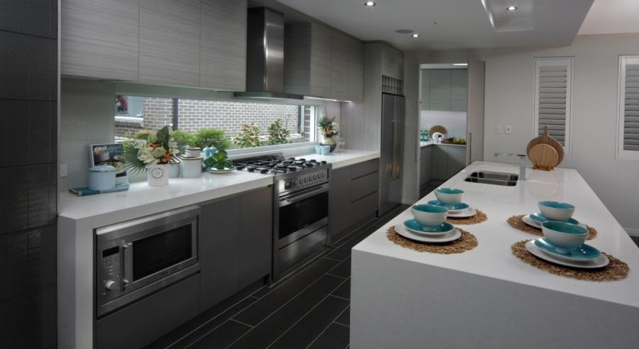 Kitchens. classic galley with butler style kitchen