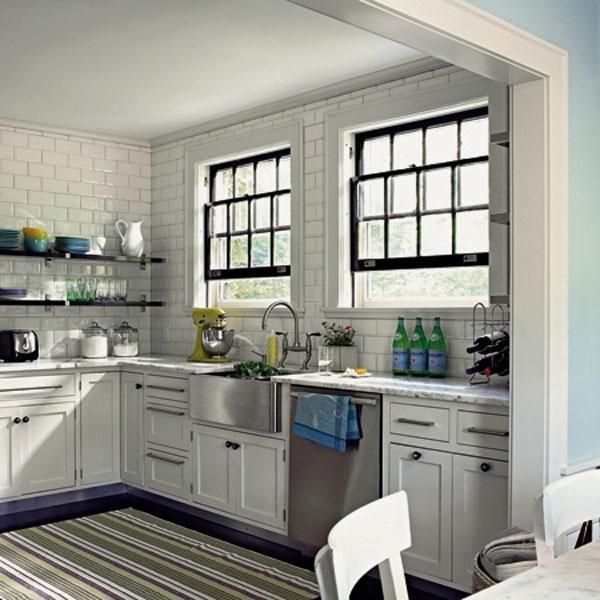 Subway tile kitchen photos